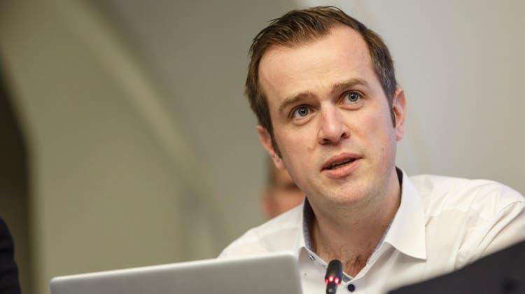 Matthias Borner (Kantonsrat, SVP Olten) wurde zum neuen Präsidenten der Finanzkommission gewählt. (Hanspeter Bärtschi)