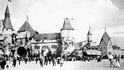 Das Festgelände des Eidgenössischen Freischiessens 1853 in Luzern. (Bild:ZHB Luzern Sondersammlung, BR.c.25.1_001)