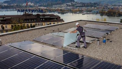 CKW-Solaranlage beim Betagtenzentrum Viva Luzern Dreilinden. (Bild: PD)