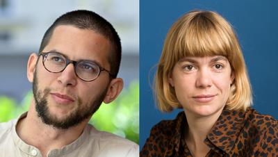 Das Schweizer Duo am diesjährigen Bachmannpreis: Autor Lukas Maisel und Schriftstellerin Julia Weber . (Bild: Keystone)