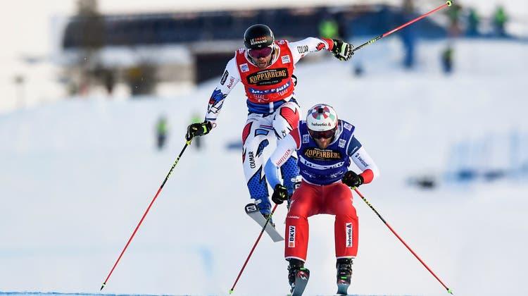 In Idre in Schweden wird Alex Fivain diesem Jahr zum ersten Mal Weltmeister (Bild: Pontus Lundahl / EPA)