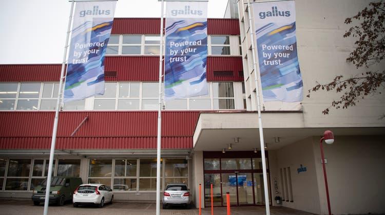 Der Gallus-Hauptsitz in St.Gallen: Über 400 Angestellte sollten an die Benpac übergehen. (Bild: Ralph Ribi (4. Januar 2021))