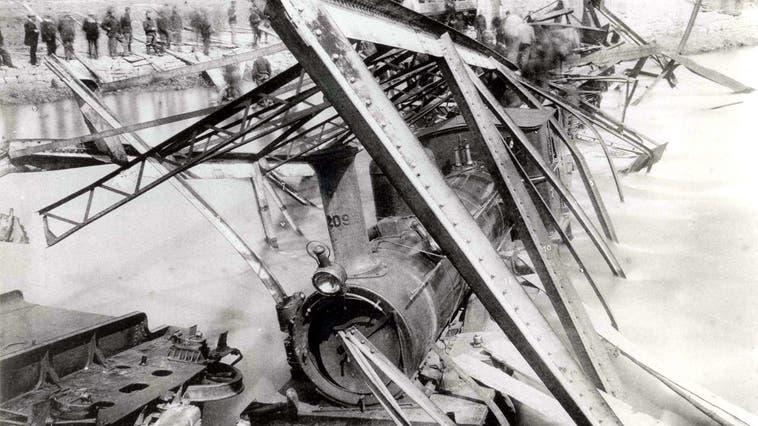 Der Eisenbahnunglück ereignete sich am 14.6.1891 in Münchenstein (Wochenblatt)