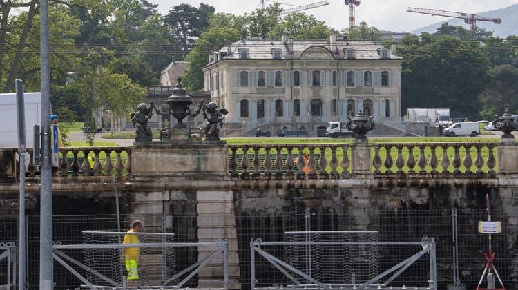 Blick auf den Tagungsort, die «Villa La Grange» in Genf (Martial Trezzini / KEYSTONE)