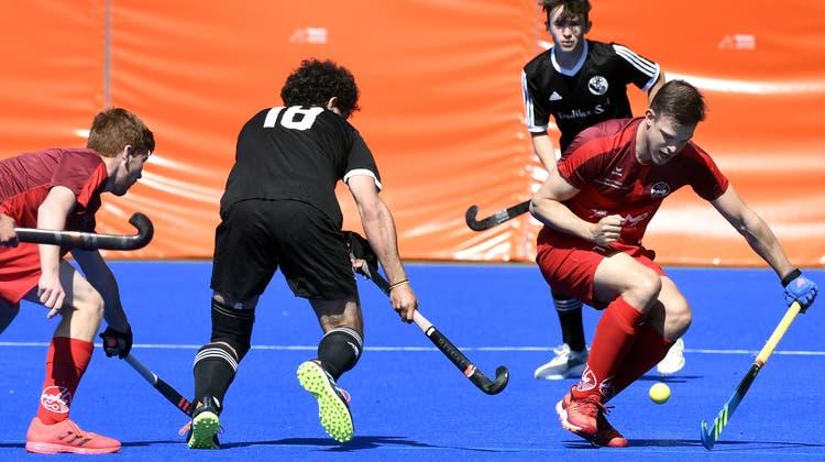 Die Herrenmannschaft des HC Rotweiss Wettingen geht als klarer Titelfavorit ans Final-Four-Turnier in Genf. (Alexander Wagner)