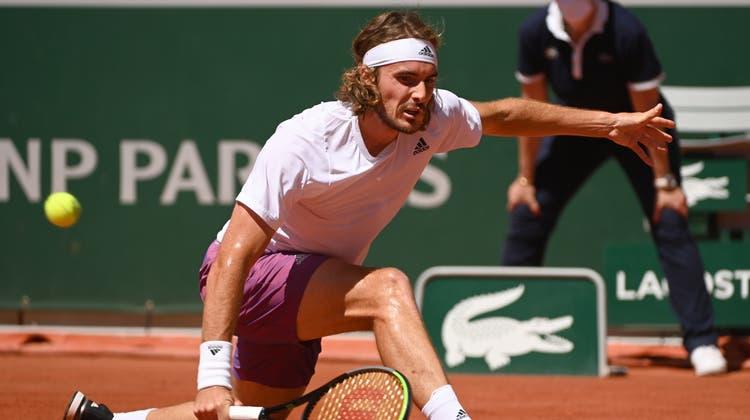 Stefanos Tsitsipas siegte gegen Alexander Zverev und steht erstmals in einem Grand-Slam-Final. (Keystone)