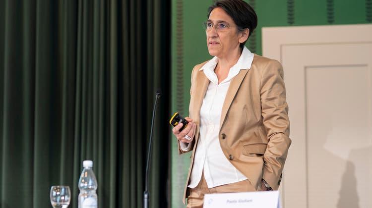 Paola Giuliani, CEO des Spitalverbunds Appenzell Ausserrhoden, ist seit 2017 im Amt. Ende Jahr hört sie auf. (Bild: Arthur Gamsa)