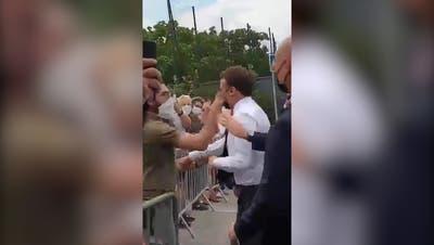 Macron-Ohrfeiger zu Haft verurteilt