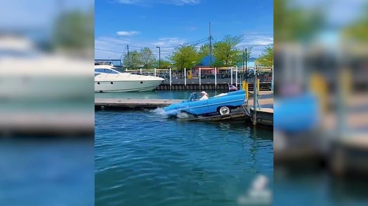 Mit dem Auto ungebremst ins Wasser – kommt das gut?