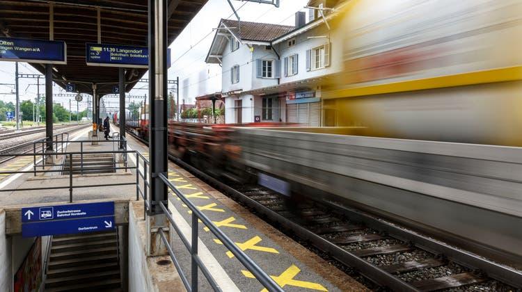 Nach dem Umbau gibt es kein Perrondach mehr im Bahnhof Luterbach. (Hanspeter Bärtschi)