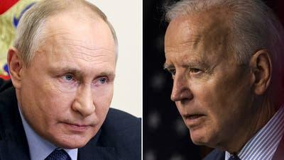 Treffen sich am Mittwoch zu Gesprächen in Genf: Vladimir Putin (links) und Joe Biden. (Keystone/Montage_CH Media)