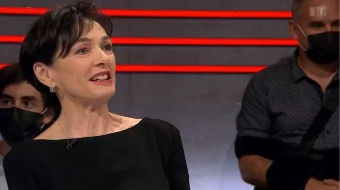 Nationalrätin Marianne Binder-Keller in der Arena. (Foto: screenshot SRF)