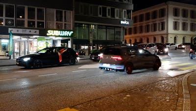Hupkonzert und Autokorso in Aarau