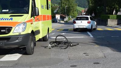Der Unfall ereignete sich am Freitagabend kurz nach 18 Uhr. (Bild: PD)