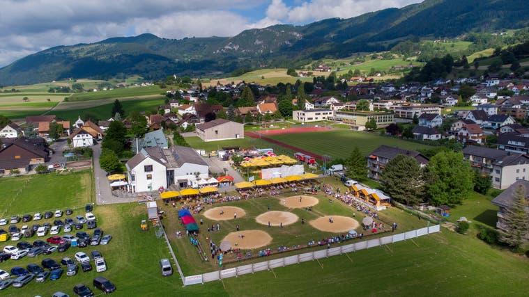 Ein gemütliches Fest im kleinen Rahmen: Das Festgelände des Solothurner Kantonalen in Matzendorf. (Patrick Luethy)