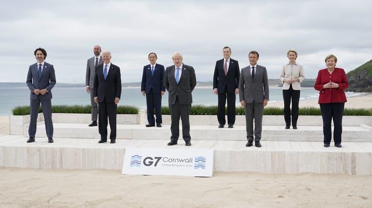 Grosse Pläne und viel Kritik: Der G7-Gipfel. (Foto: Keystone)