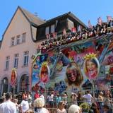 DieKilbibahnenstanden in diesem Jahr vor dem Schulhaus Kirchenfeld statt im Zentrum. (Bild: Hildegard Bickel)