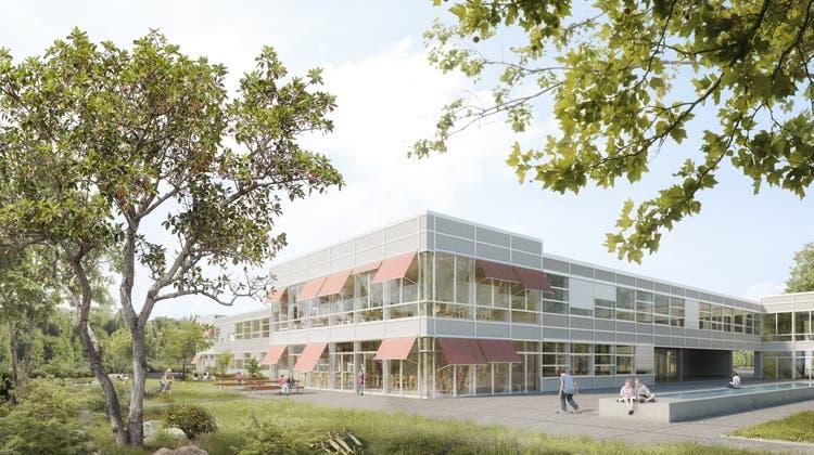 So könnte das neue Schulhaus im Kleinholz aussehen. (Visualisierung: zvg/Nightnurse Images Gmbh)