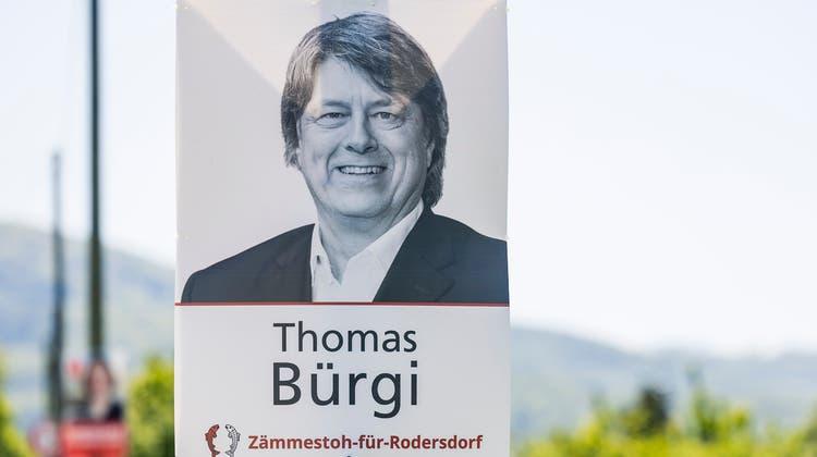 Thomas Bürgi von der Vereinigung «Zämmestoh für Rodersdorf» wird neuer Gemeindepräsident von Rodersdorf. (Kenneth Nars / BLZ)