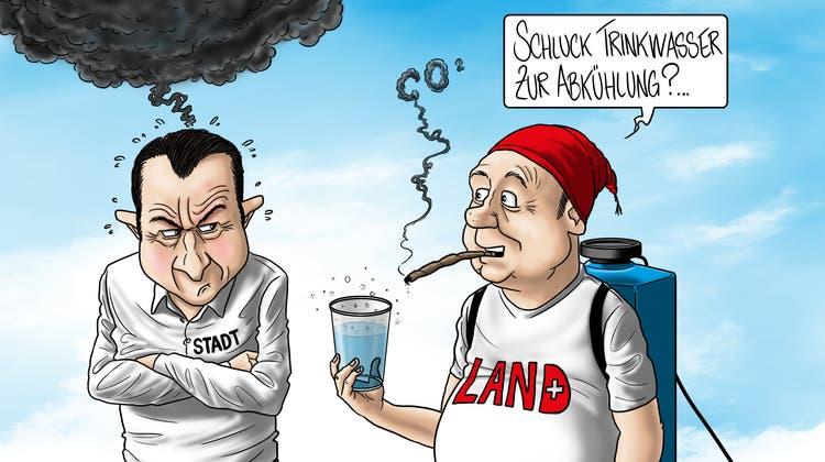 So sieht unser Karikaturist Silvan Wegmann den Abstimmungssonntag. (Silvan Wegmann)
