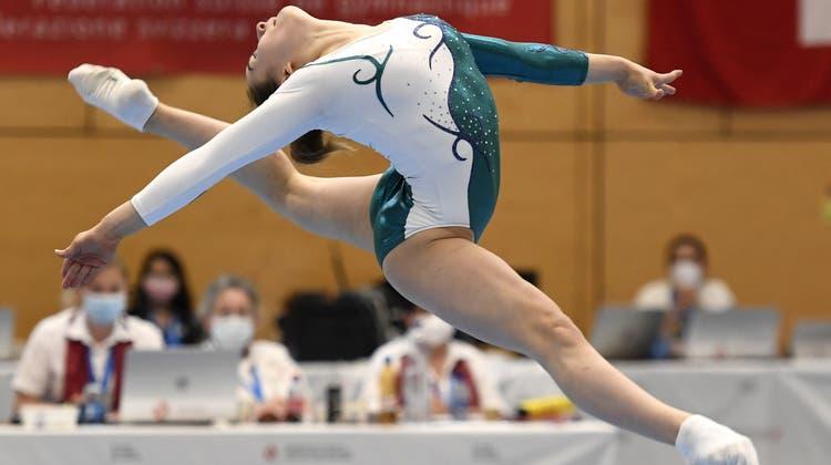 Grazil: Am Boden und am Sprung holte die Tochter von Europameister Daniel Giubellini jeweils die Goldmedaille. (Bilder: Alexander Wagner)