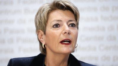 Abstimmungssiegerin Karin Keller-Sutter: Die Justizministerin will das neue Anti-Terrorgesetz wohl in einem Jahr in Kraft setzen. (Keystone)