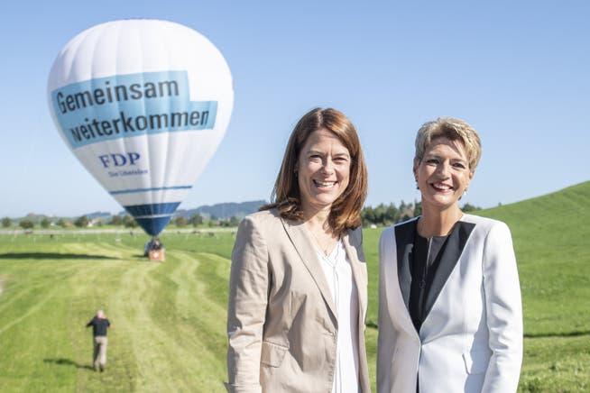 «Es gelang uns, die wegen des Rücktritts von Elisabeth Kopp noch immer angespannte Situation um die FDP-Frauen zu beruhigen»: Petra Gössi zur Wahl von Karin Keller-Sutter in den Bundesrat.