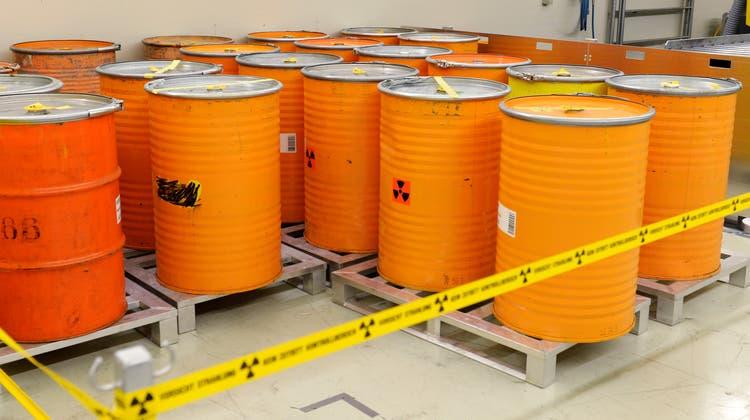 Im Zwilag im aargauischen Würenlingenwerden radioaktive Abfälle aller Art behandelt und zwischengelagert. (Keystone)