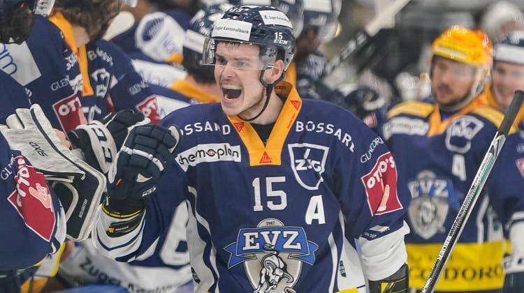 Wechselt in die NHL: Zugs Grégory Hofmann (Bild: Claudio Thoma / Freshfocus (Zug, 7. Mai 2021))