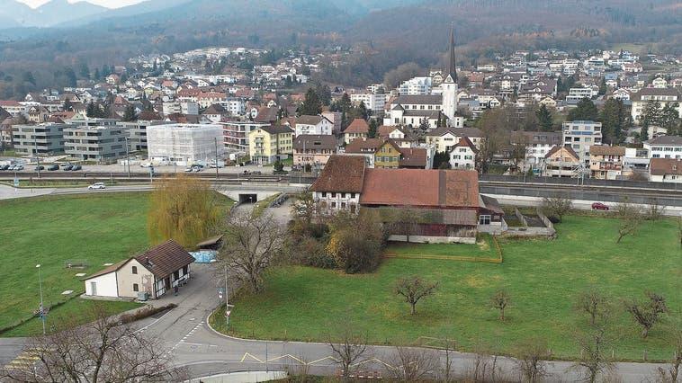 Beim geplanten Dorfzentrum auf der Danzmatt soll der Gemeinderat nochmals über die Bücher, finden die Parteipräsidenten (Archiv). (Bruno Kissling)