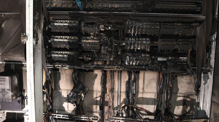 Brand im Elektrohauptverteilerverursacht grossen Sachschaden
