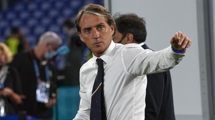 Italiens Trainer Roberto Mancini. (Bild: Alessandra Tarantino/AP)