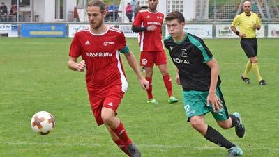 Lucien Baumgartner (l.) meldete sich in der ersten Runde der Aufstiegsspiele mit einem Doppelpack zurück. (Remo Fröhlicher)