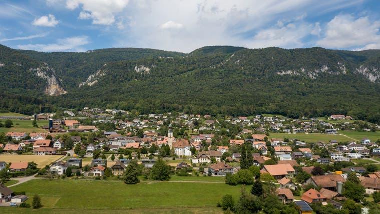 Blick auf die Gemeinde Oberdorf von oben. (Oliver Menge)