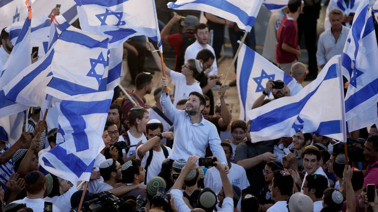 Der umstrittene Marsch. (Foto: Keystone)