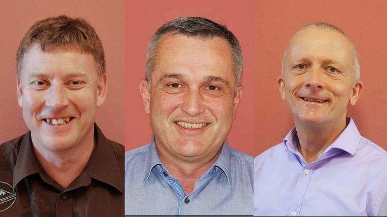 Daniel Frei, Daniel Lienammer, Markus Wälty: Die drei Gemeinderäte hören Ende Jahr alle auf. Die Gründe sind unterschiedlich (Bilder: zVg)