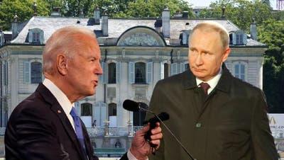 Joe Biden und Wladimir Putin werden sich am Mittwoch in Genf treffen. (Shutterstock/Watson)
