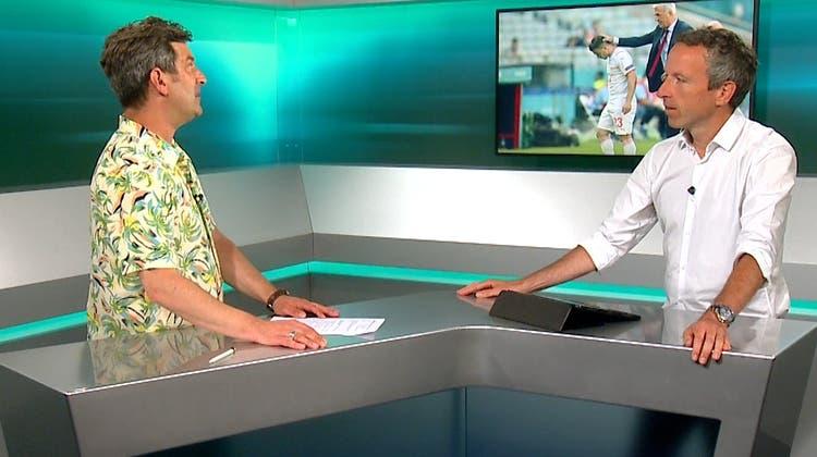 Glücklich sieht anders aus. Xherdan Shaqiri nach seiner Auswechslung gegen Wales. Zu diesem Zeitpunkt führte die Schweiz noch mit 1:1. (Dan Mullan / AP)