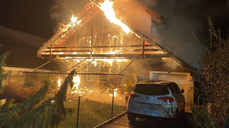 In Buchs brannte es im Dezember 2020. (Kapo Aargau)