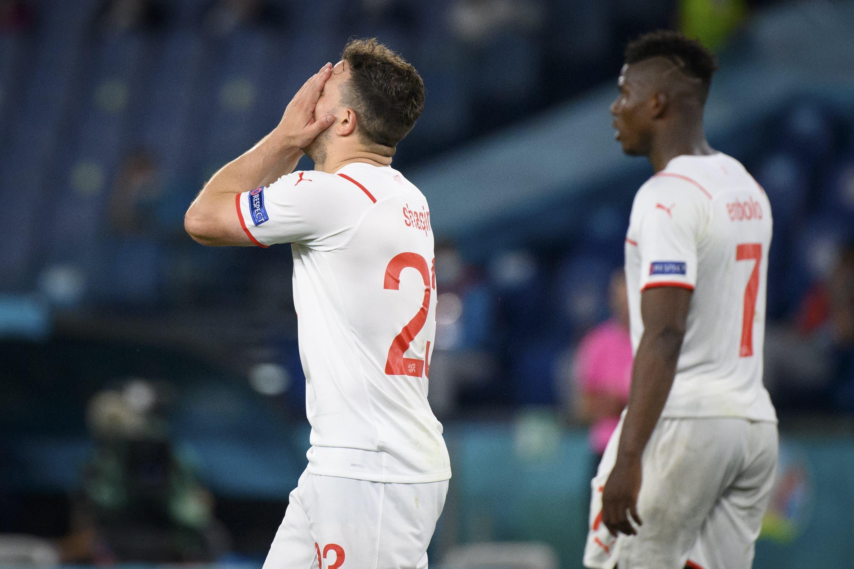 Das war zu wenig: Xherdan Shaqiri und Co. haben gegen Italien keine Chance.