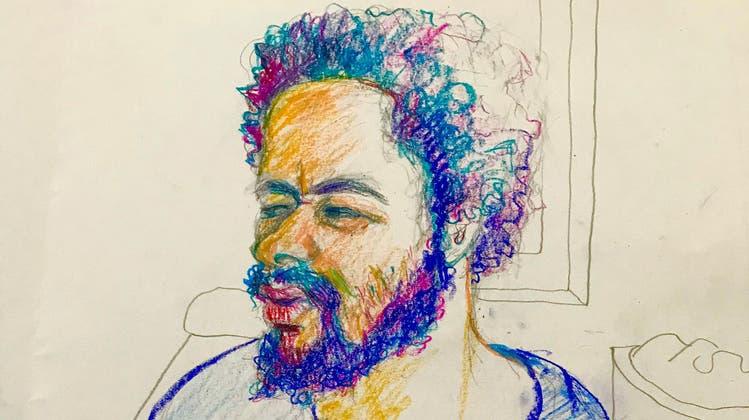 Porträtzeichnung von Straftäter Brian K. (bekannt als «Carlos»). (Keystone)