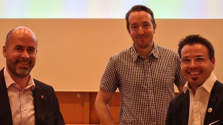 vlnr: Matthias Meier-Moreno (Co-Präsident), Simon Klaus (Vize-Präsident), Tobias Neuhaus (Co-Präsident) (zvg)