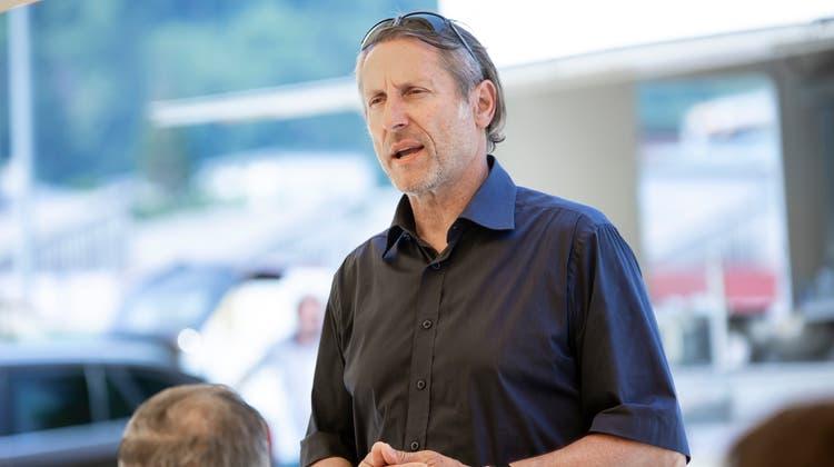 Architekt Stephan Anliker ist im März 2019 von seinem Amt als GC-Präsident zurückgetreten. Er bedankte sich in seiner Rede bei der Gemeinde für die zügig ausgestellte Baubewilligung für den Bau des Hotels. (Britta Gut)