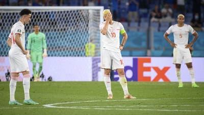 Es war nicht der Abend der Schweizer Nati. Sie verloren in Rom gegen Italien deutlich mit 3 zu 0. (Keystone)