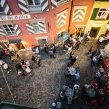 Die Stadtpolizei St.Gallen will am kommenden Wochenende vermehrt Präsenz in der Innenstadt zeigen. (Bild: Michel Canonica)