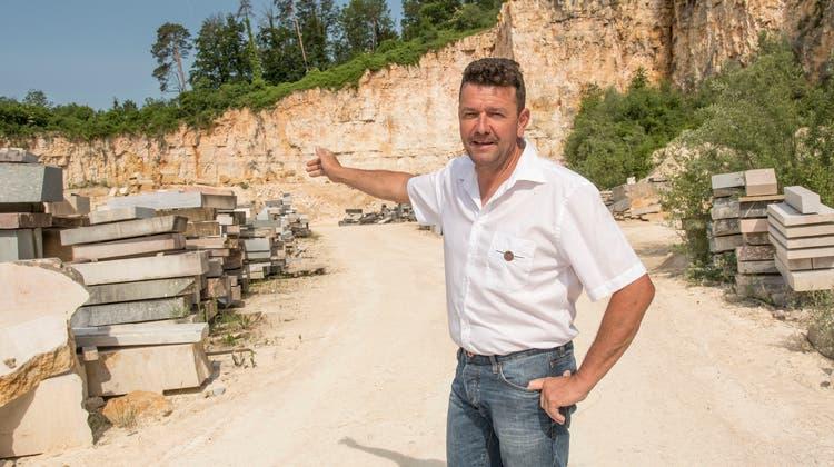 Christian Thomann betreibt mit seiner Firma zwei Steinbrüche in Liesberg und in Laufen. (Nicole Nars-Zimmer (niz) / BLZ)