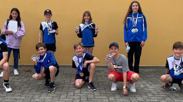 Medaillenhamsterer: Auch an der Aquarius Trophy in Triesen überzeugten die Flöser Schwimmer mit guten Leistungen. (Bild: PD)
