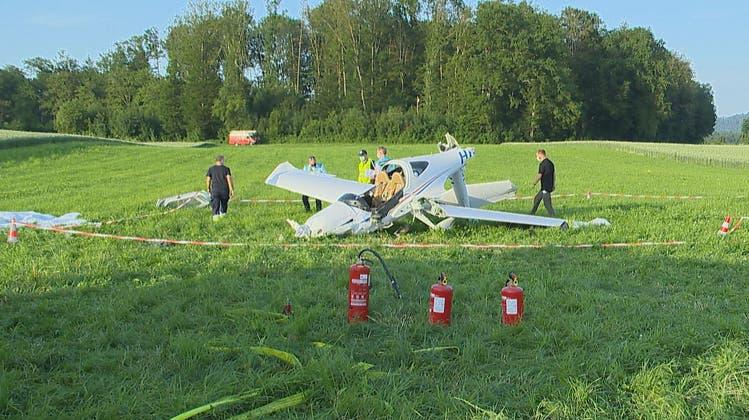 Am Donnerstag ist auf dem Birrfeld ein Flugzeug abgestürzt. (BRK News)