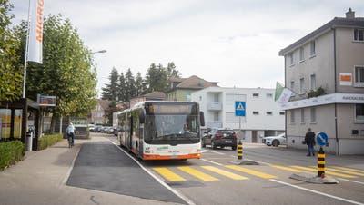 Noch sind nicht alle Bushaltestellen in Gossau hindernisfrei. (Bild: Arthur Gamsa (9. Oktober 2020))