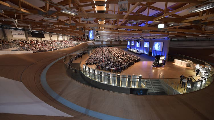 Die Swatch GV im Tissot-Velodrome ist einer der Events, die die Halle auszeichnungswürdig gemacht haben. (Oliver Menge)